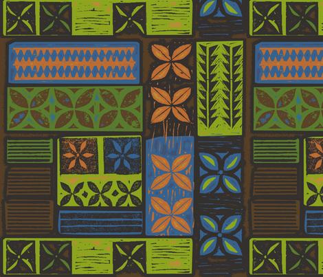 Aloha Flowers 8c fabric by muhlenkott on Spoonflower - custom fabric