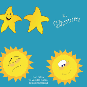 Lil Glimmer and Sun Doll Pillows