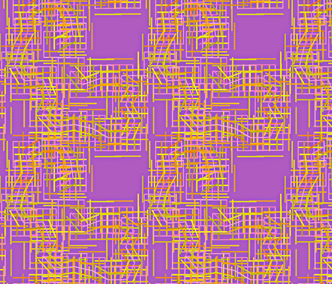 Connected_Squares_Purples fabric by patsijean on Spoonflower - custom fabric