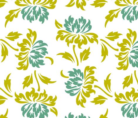 Aloha Flowers 9a fabric by muhlenkott on Spoonflower - custom fabric