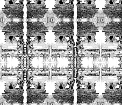 lapin toile fabric by blurstuff on Spoonflower - custom fabric