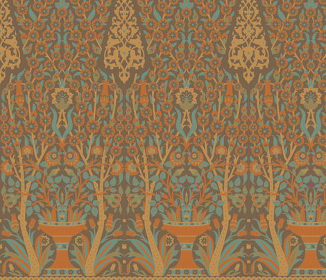 Topkapi 1c fabric by muhlenkott on Spoonflower - custom fabric