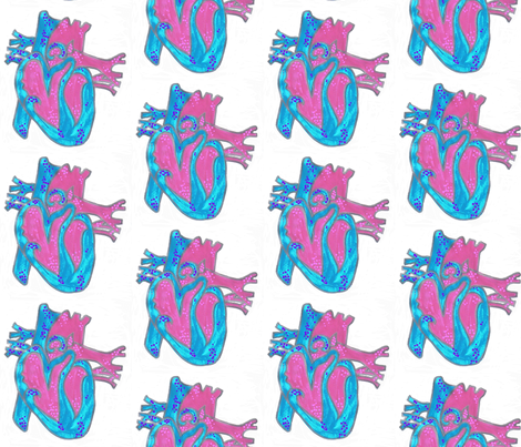anatomical heart fabric by arlee on Spoonflower - custom fabric