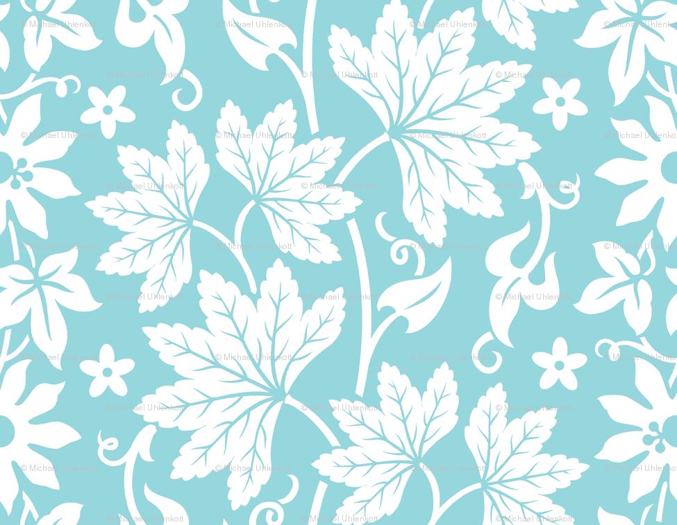 aloha flowers 10a fabric muhlenkott spoonflower