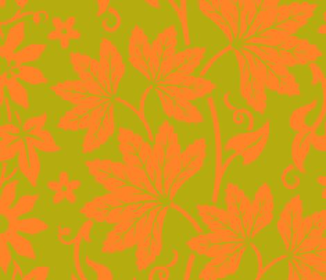 Aloha Flowers 10b fabric by muhlenkott on Spoonflower - custom fabric