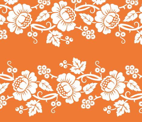 Aloha Flowers 11a fabric by muhlenkott on Spoonflower - custom fabric