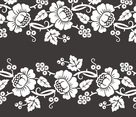 Aloha Flowers 11b fabric by muhlenkott on Spoonflower - custom fabric