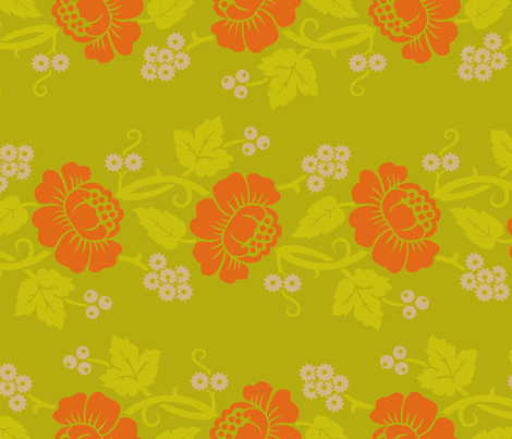 Aloha Flowers 11d fabric by muhlenkott on Spoonflower - custom fabric