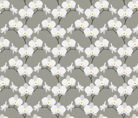 orchids fabric by troismiettes on Spoonflower - custom fabric