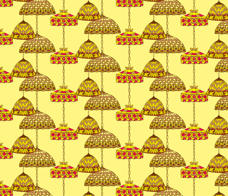 Ice Cream Social :: Banana Split :: Salon fabric by cottageindustrialist on Spoonflower - custom fabric