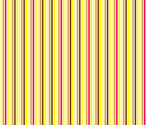 Ice Cream Social :: Banana Split :: Candy Stripe fabric by cottageindustrialist on Spoonflower - custom fabric