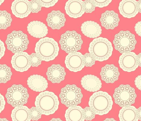 Ice Cream Social :: Rainbow Sherbet :: Doilies fabric by cottageindustrialist on Spoonflower - custom fabric