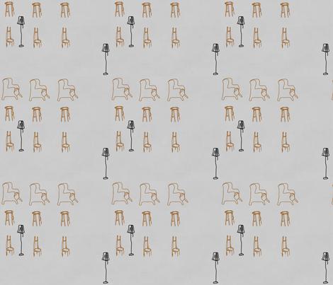 Chairs in Motion-082 fabric by kkitwana on Spoonflower - custom fabric