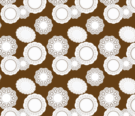 Ice Cream Social :: Vanilla Bean :: Doilies fabric by cottageindustrialist on Spoonflower - custom fabric
