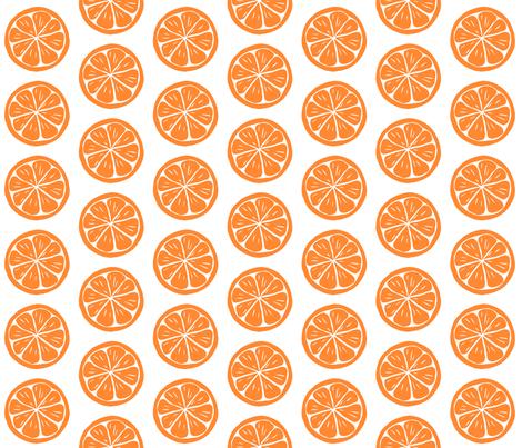 orange slices fabric by bubbledog on Spoonflower - custom fabric