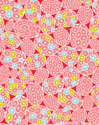 Sea Foam - Abstract Geometric Pink & Red