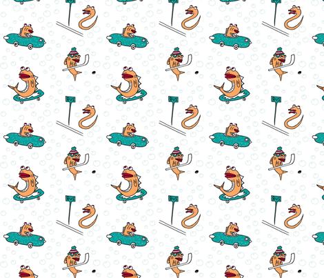 Fish Town  fabric by puncezilla on Spoonflower - custom fabric
