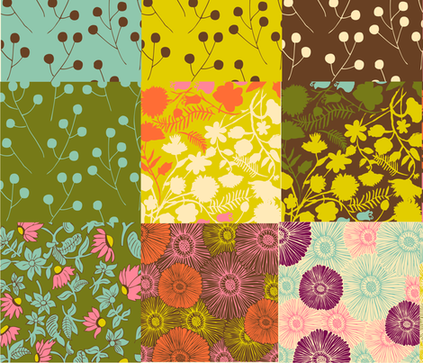 patchwork fabric by paper_pie on Spoonflower - custom fabric