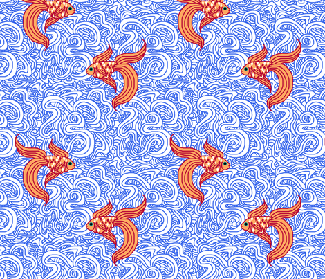 Weird Fishes fabric by leighr on Spoonflower - custom fabric
