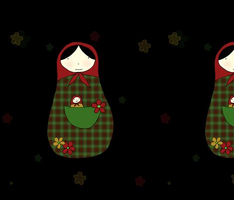 matrioskanegra fabric by quemona! on Spoonflower - custom fabric