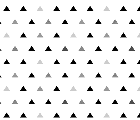 Black Gray Triangles fabric by mrshervi on Spoonflower - custom fabric