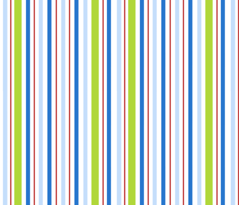 robot stripes (coordinates with robots) fabric by emilyb123 on Spoonflower - custom fabric