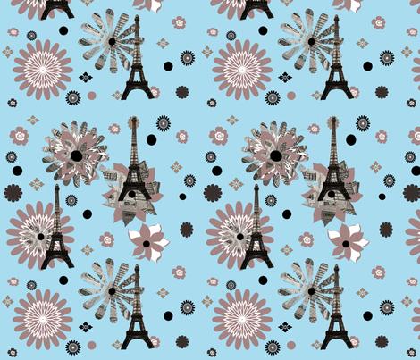 Mod Paris fabric by karenharveycox on Spoonflower - custom fabric