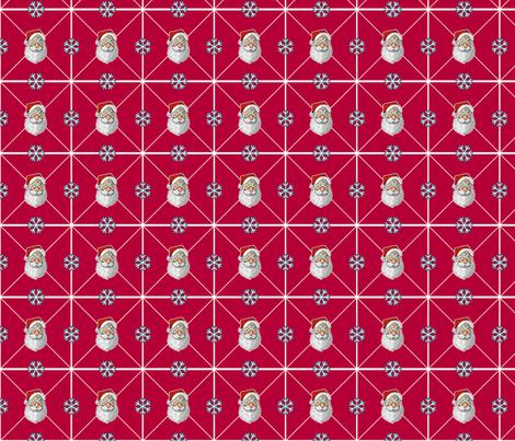 Santa & Snowflakes fabric by jamesm4321 on Spoonflower - custom fabric