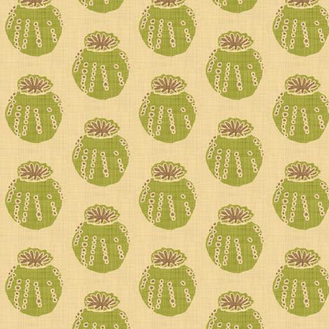 poppy_pod linen fabric by holli_zollinger on Spoonflower - custom fabric