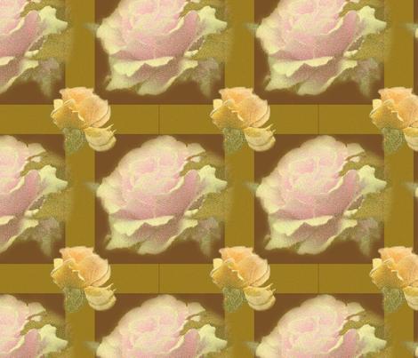 ChocolateYelllowRoseTartan fabric by b_mac_b on Spoonflower - custom fabric