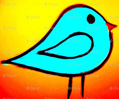 Little Bird Blue Orange