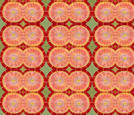 Pink Grapefruit fabric by angella_meanix on Spoonflower - custom fabric