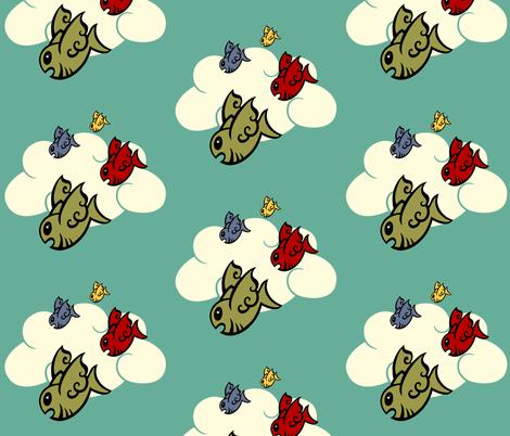 Flock of Burramundi fabric by kerryone on Spoonflower - custom fabric