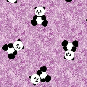 Panda Tumbles - Amethyst