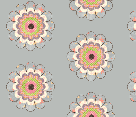 floweronblue fabric by snork on Spoonflower - custom fabric