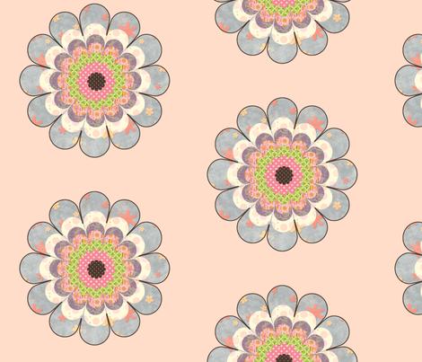 floweronpink fabric by snork on Spoonflower - custom fabric