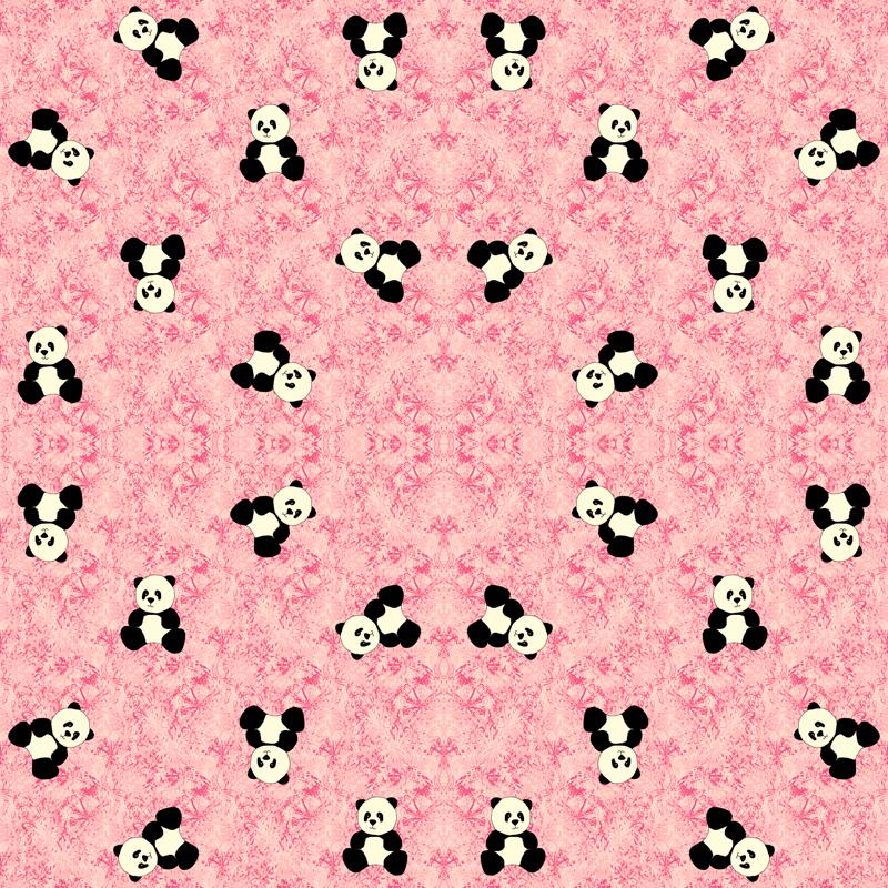 Panda Tumbles Strawberry Pink Wallpaper Inscribedhere Spoonflower