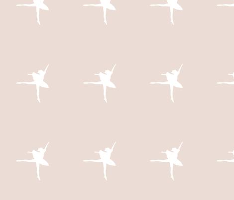 ballerina_siloette_parchment fabric by tali on Spoonflower - custom fabric