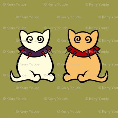 White Kitty & Ginger Kitty