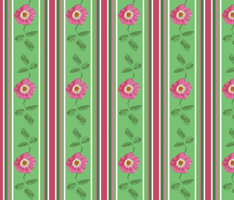 stripes_and_single_rose_with_2_leaves_2_Picnik_collage-ch fabric by khowardquilts on Spoonflower - custom fabric