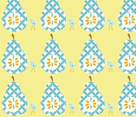 blue_pear_final fabric by petunias on Spoonflower - custom fabric