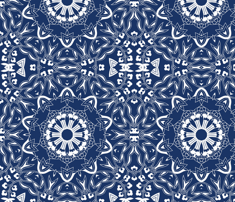 Indigo02 fabric by lacefairy on Spoonflower - custom fabric