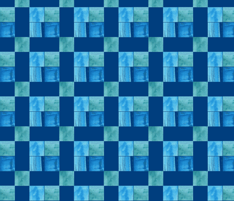 Blue Windows Check-ch fabric by withonethread on Spoonflower - custom fabric