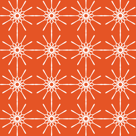 Line Art - Persimmon fabric by strive on Spoonflower - custom fabric