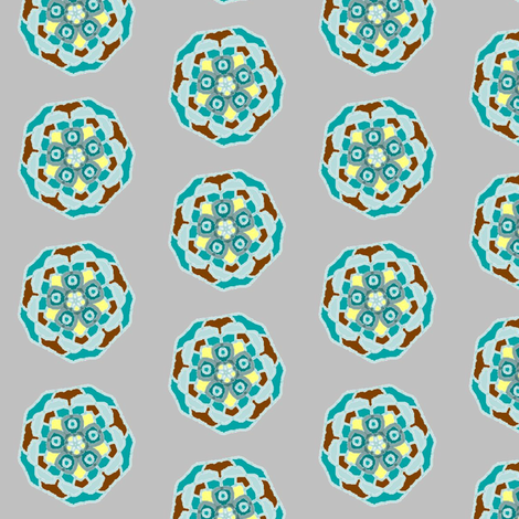 bluebrownflower1 fabric by jkayep2 on Spoonflower - custom fabric