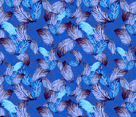 blueleaveshawaii fabric by anchordown on Spoonflower - custom fabric