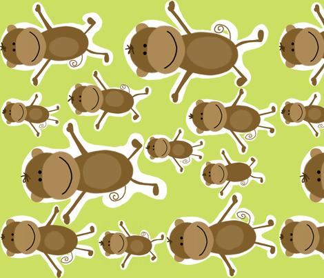 fabric_monkey_see_monkey_do_sideways fabric by emilyb123 on Spoonflower - custom fabric