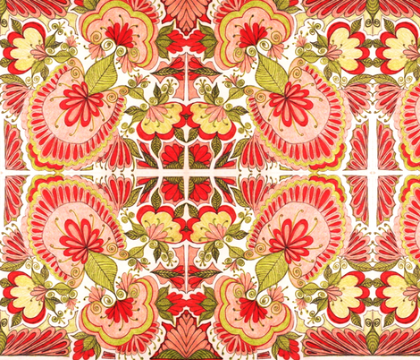 No Bed of Roses  fabric by societydeb on Spoonflower - custom fabric