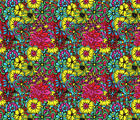 Hippy Flowers fabric by antonybriggs on Spoonflower - custom fabric