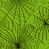 Spidery Web -  Zombie Green